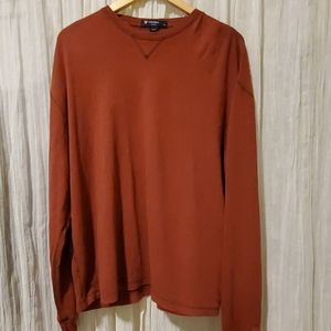 Cremieux brick red long sleeved tee, Large